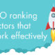 SEO ranking factors that work effectively